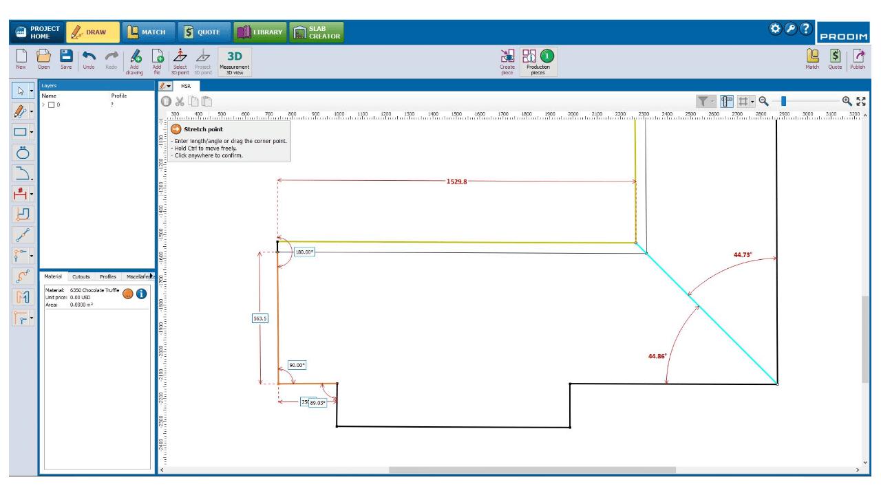 Captura de pantalla: software PRODIM Fábrica- Dibujo