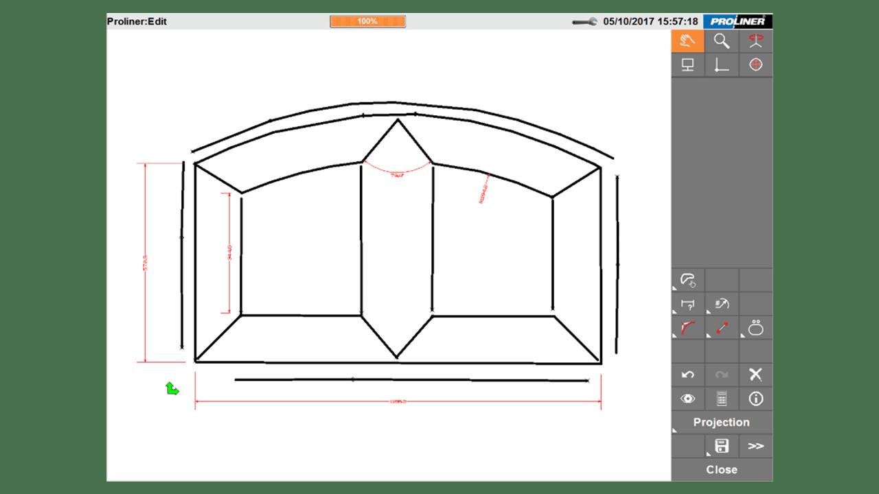 Captura de pantalla- Software PRODIM Proliner-CT Puertas y Ventanas