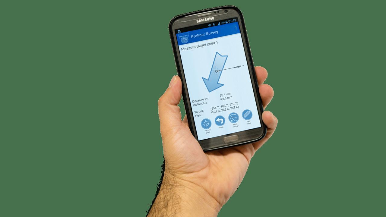 Software PRODIM Survey de Proliner-App Móvil
