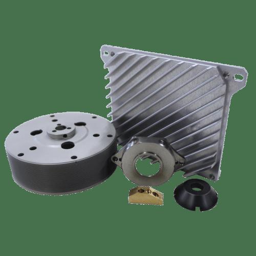 Imagen que exhibe varias muestras de productos fabricados por la empresa de mecanizado de precisión Impa – Parte del grupo PRODIM