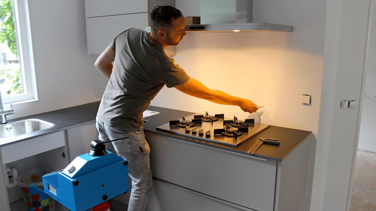 Soluciones para la industria Piedra PRODIM –medición de aplacados / frontales muros de cocina