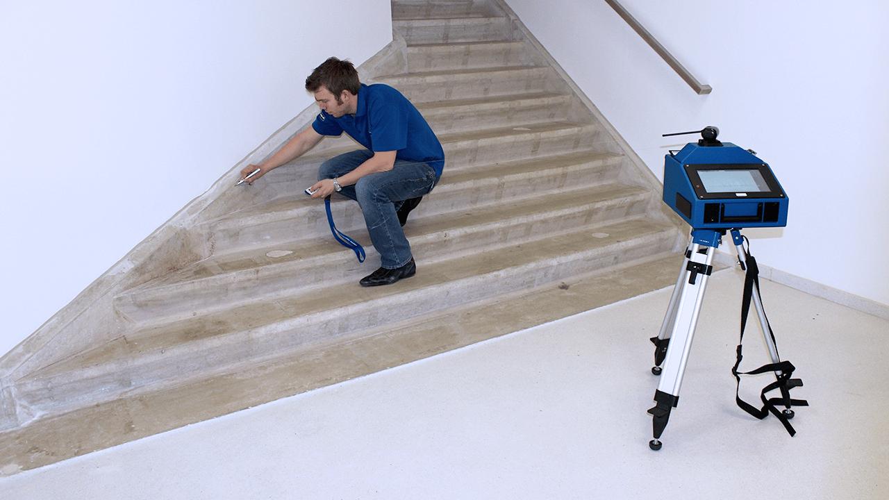 Soluciones para la industria Piedra PRODIM –medición de escaleras