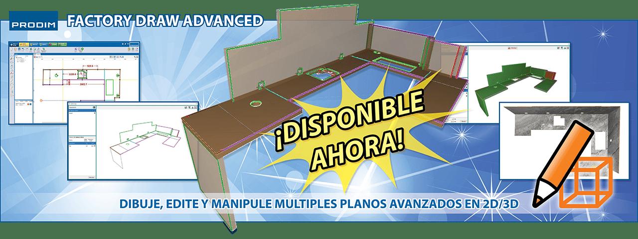 Prodim Factory Draw Advanced - Dibuje, edite y manipule multiples planos avanzados en 2D/3D - Ver el vídeo